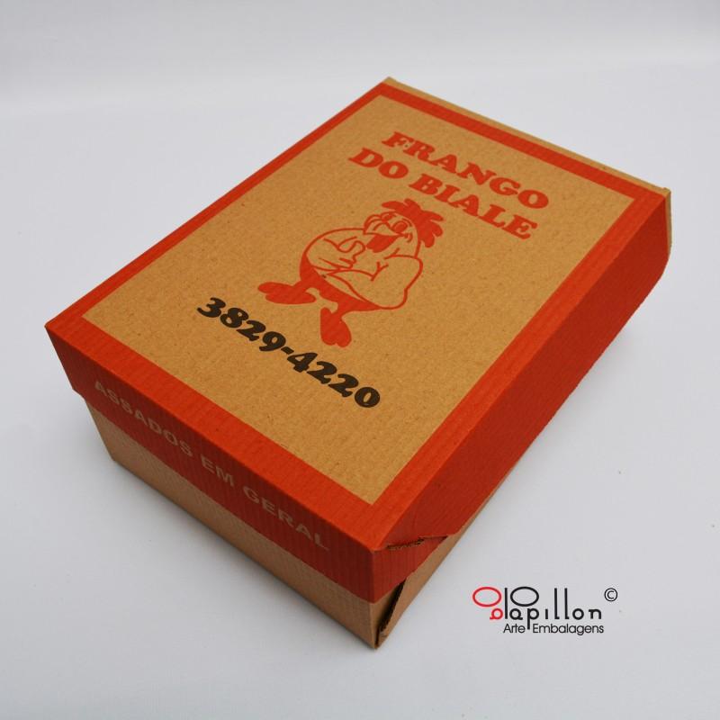 Caixa para assados (impressão em 2 cores) P:20x20x11cm M:18x26x10cm G:20x26x11cm