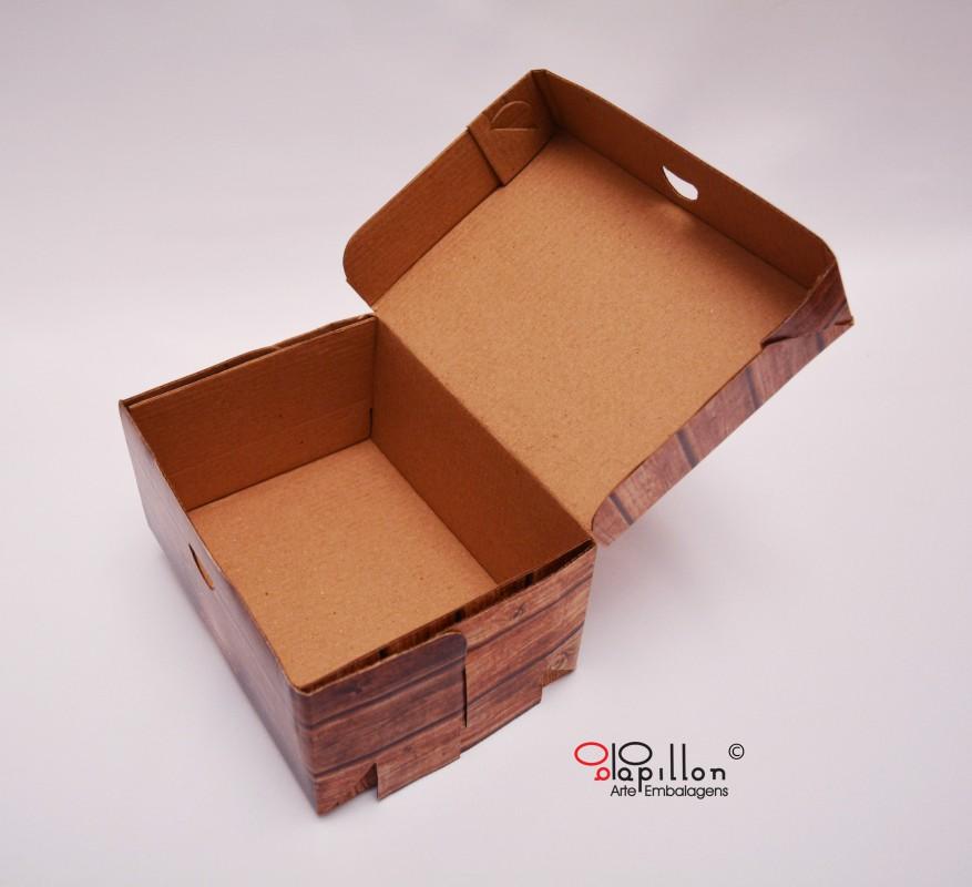 Caixa para batata assada (interior pardo)
