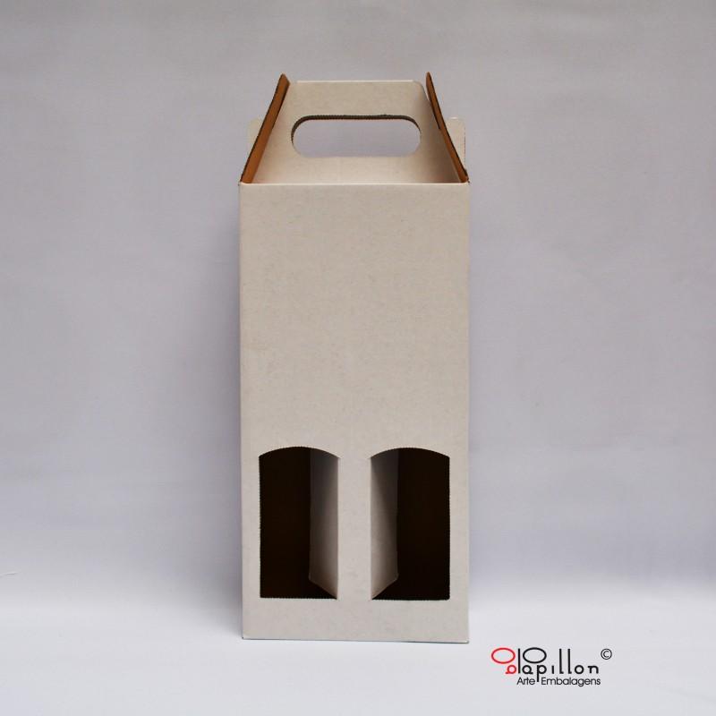 Caixa de vinho (duas unidades) 16 x 7,5 x 32 cm