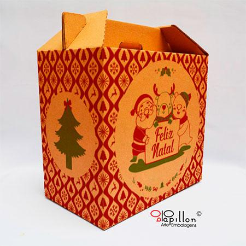 Caixa para cesta de natal