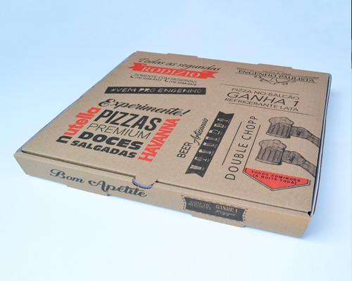 Caixa de pizza quadrada