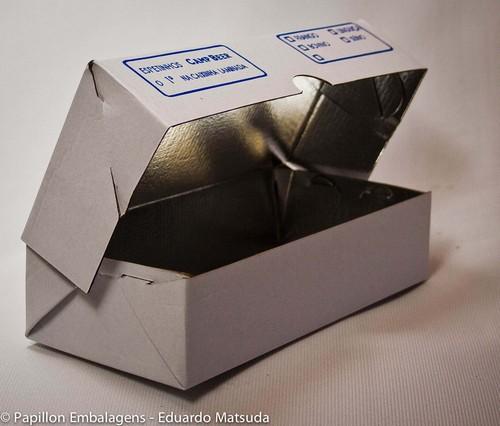 Embalagem para entrega de espetinhos