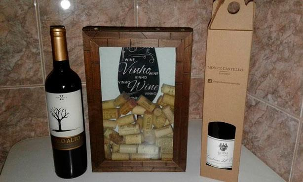 Embalagem de papelão para vinho
