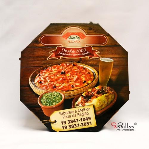 Impressão fotográfica em caixa de pizza