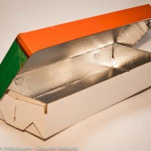 Chapa de papelão metalizada