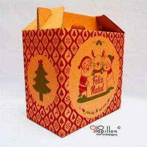Embalagem de papelão para cesta de natal