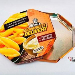 Embalagem de pizza laminada